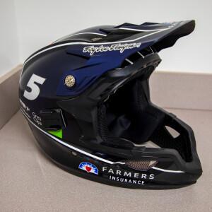 Race Used 2017 No. 5 Farmers Insurance Pit Helmet