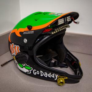 Race Used 2010 No. 5 GoDaddy.com Pit Helmet