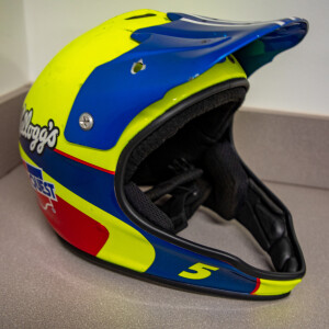 Race Used 2009 No. 5 Kellogg's CarQuest Pit Helmet