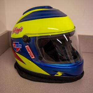 Race Used 2009 No. 5 Kellogg's CarQuest Fueler Pit Helmet
