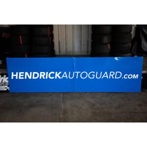 Race Used 2019 No. 24 HendrickAutoguard.com Pit Box Fascia Board