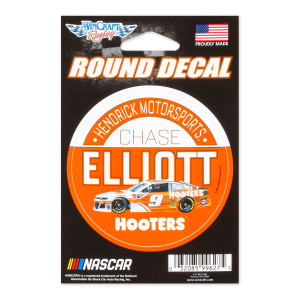 Chase Elliott #9 2018 NASCAR Hooters Round Decal - 3""