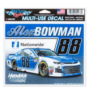 "Alex Bowman #88 2018 NASCAR Multi-Use Decal - 5"" x 6"""
