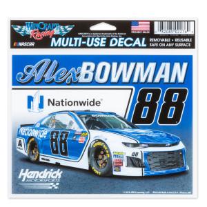 """Alex Bowman #88 2018 NASCAR Multi-Use Decal - 5"""" x 6"""""""