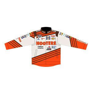 Chase Elliott #9 2021 Darlington Throwback Hooters Adult Nylon Uniform Jacket