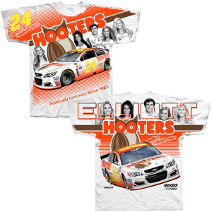 Chase Elliott Hooters Adult Total Print T-shirt