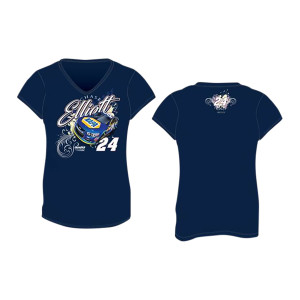 Chase Elliott #24 2017 NAPA Ladies V-neck T-shirt