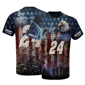 Chase Elliott #24 American Sublimated T-shirt
