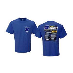 Chase Elliott #9 2018 NASCAR Schedule T-shirt
