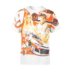 Chase Elliott 2018 #9 Hooters Total Print T-shirt