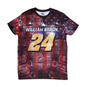 William Byron #24 American Performance Total Print T-shirt