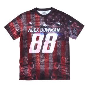 Alex Bowman 2018 #88 American Performance Total Print T-shirt