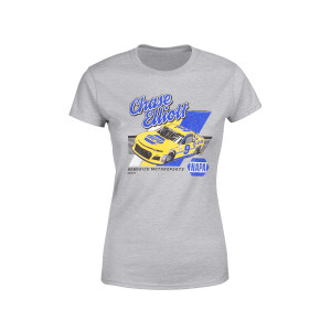 Chase Elliott #9 2018 NASCAR NAPA Ladies Retro Car T-shirt