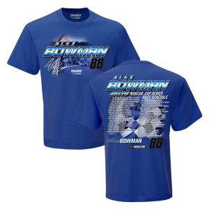 Alex Bowman #88 2019 NASCAR Schedule T-shirt