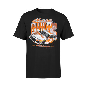Chase Elliott Hooters Vintage Black T-shirt