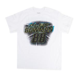 #88 NASCAR Alex Bowman White Number T-shirt