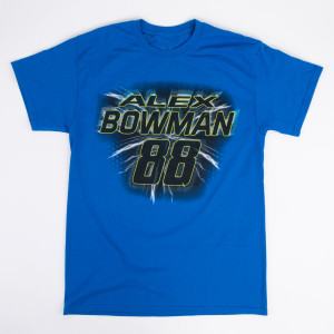 #88 NASCAR Alex Bowman Blue Number T-shirt