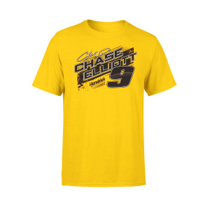 Chase Elliott #9 2019 NASCAR NAPA Yellow T-shirt