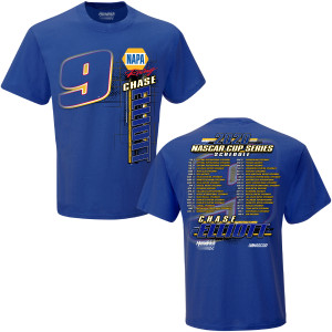 Chase Elliot #9 2020 NAPA NASCAR CUP SERIES Race Schedule T-shirt