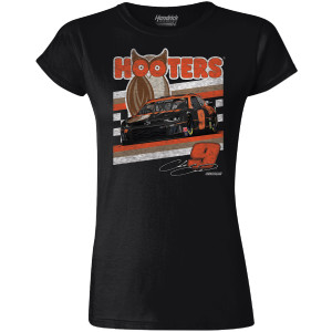 Chase Elliott #9 2020 Ladies Retro Car Hooters Crew Neck Tee
