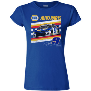 Chase Elliott #9 2020 Ladies Retro Car NAPA Crew Neck Tee