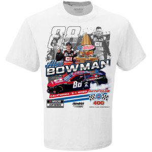Alex Bowman 2020 NASCAR Auto Club Speedway win T-shirt.