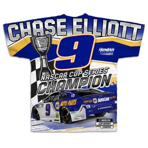 2020 NASCAR Champ Chase Elliott Total Print T-shirt