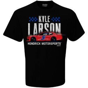 Kyle Larson 2021 #5 Black Graphic Tee