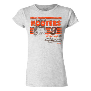Chase Elliott #9 2021 Darlington Throwback Hooters Ladies Retro Graphic Tee