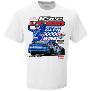 Kyle Larson 2021 Go Bowling at The Glen Race WIN T-shirt