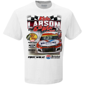 Kyle Larson #5 Bristol Bass Pro Shops Night Race WIN T-shirt