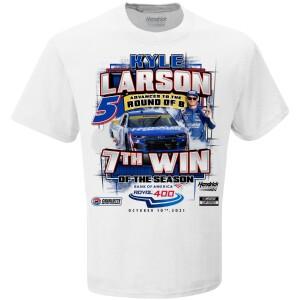 Kyle Larson Bank of America 400 WIN Winner T-shirt