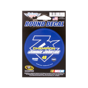 Jimmie Johnson 2016 NASCAR Sprint Cup Champion Round Decal 3""