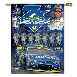 "Jimmie Johnson 2016 NASCAR Sprint Cup Champion Banner Vertical 27"" x 37"""