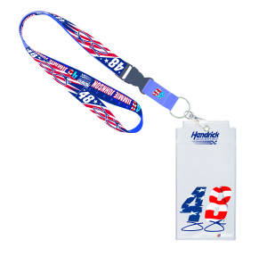 Jimmie Johnson #48 Patriotic Credential Holder with Lanyard