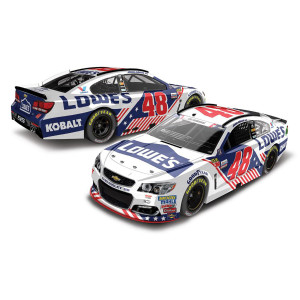 Jimmie Johnson 2017 NASCAR Cup Series No. 48 Lowe's Patriotic 1:24 Die-Cast
