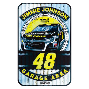 "Jimmie Johnson #48 2018 NASCAR Plastic Sign - 11"" x 17"""