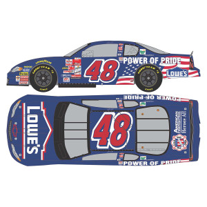 Jimmie Johnson #48 Lowe's Power of Pride 1st Career Start HO: 1:24 - Die Cast