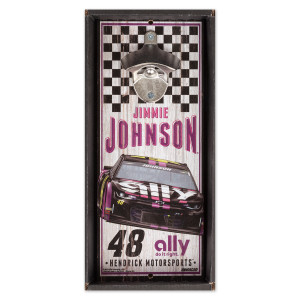 #48 Jimmie Johnson NASCAR 2019 Bottle Opener Sign