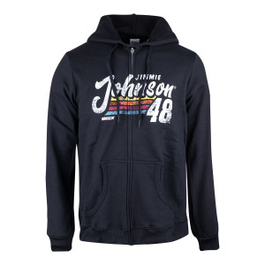 #48 Jimmie Johnson 2019 NASCAR Ladies Full Zip Hoodie