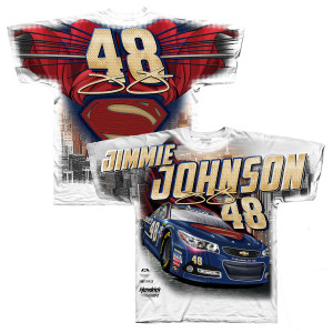 Jimmie Johnson #48 Superman Total Print T-Shirt