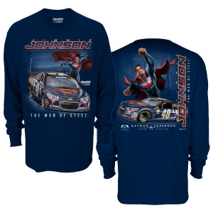 Jimmie Johnson #48 Superman Long Sleeve Sidekick T-Shirt
