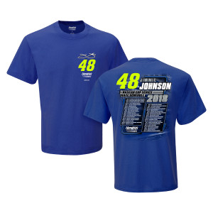 Jimmie Johnson #48 2018 NASCAR Schedule T-shirt