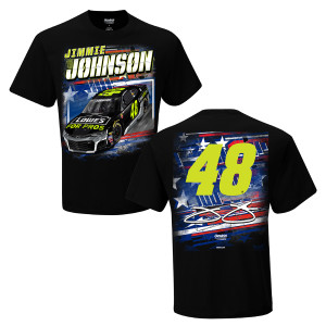 Jimmie Johnson #48 2018 Lowe's Patriotic 2-Spot T-shirt