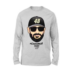 Jimmie Johnson #48 NASCAR Emoji Long Sleeve T-shirt
