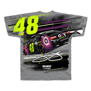 #48 NASCAR Jimmie Johnson Ally Financial Gray All Over Print T-shirt