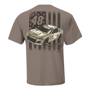 Jimmie Johnson 2019 NASCAR #48 Brown Patriotic T-shirt