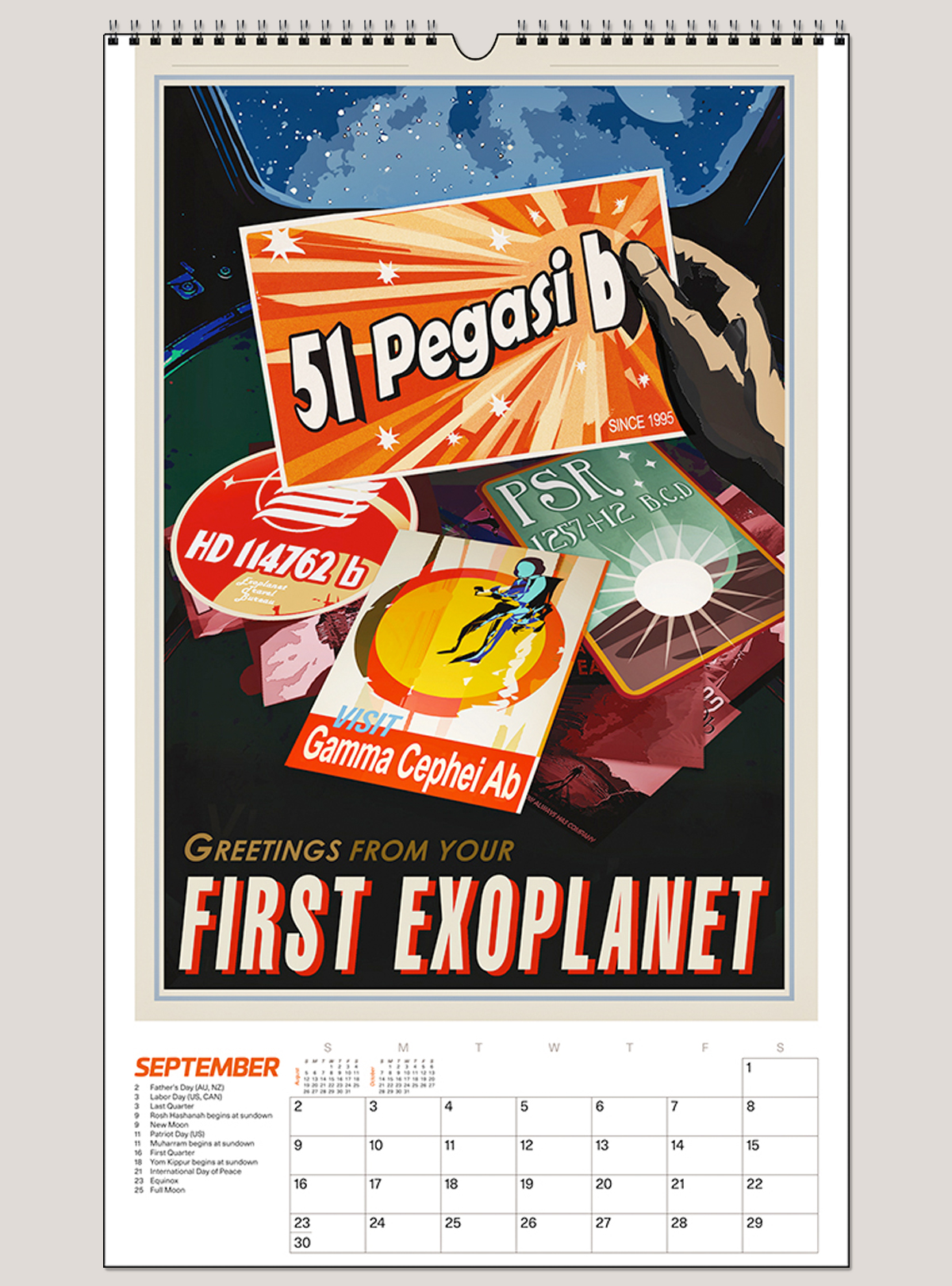 "2018 Space Vacation 12"" x 20"" Big Picture™ Calendar"