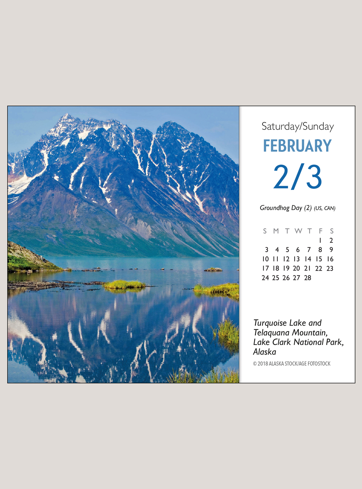 "2019 America's National Parks 5.25"" x 4.25"" PAGE PER DAY CALENDAR"