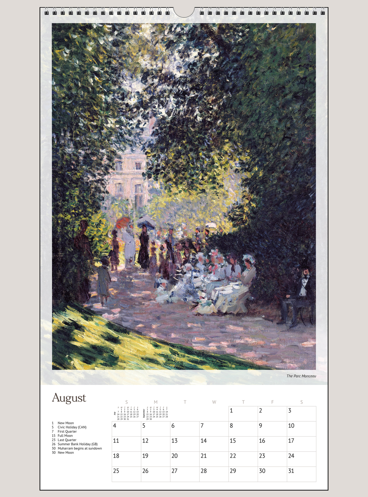"2019 Monet 12"" x 20"" BIG PICTURE™ CALENDAR"